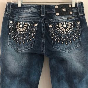 Miss Me jeweled distressed bootcut jeans